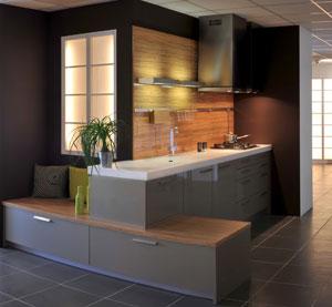 Installation de cuisine contemporaine, cuisine design et cuisine aménagée